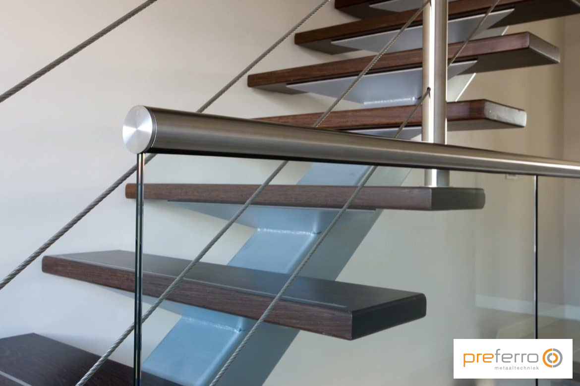 Details RVS balustrade