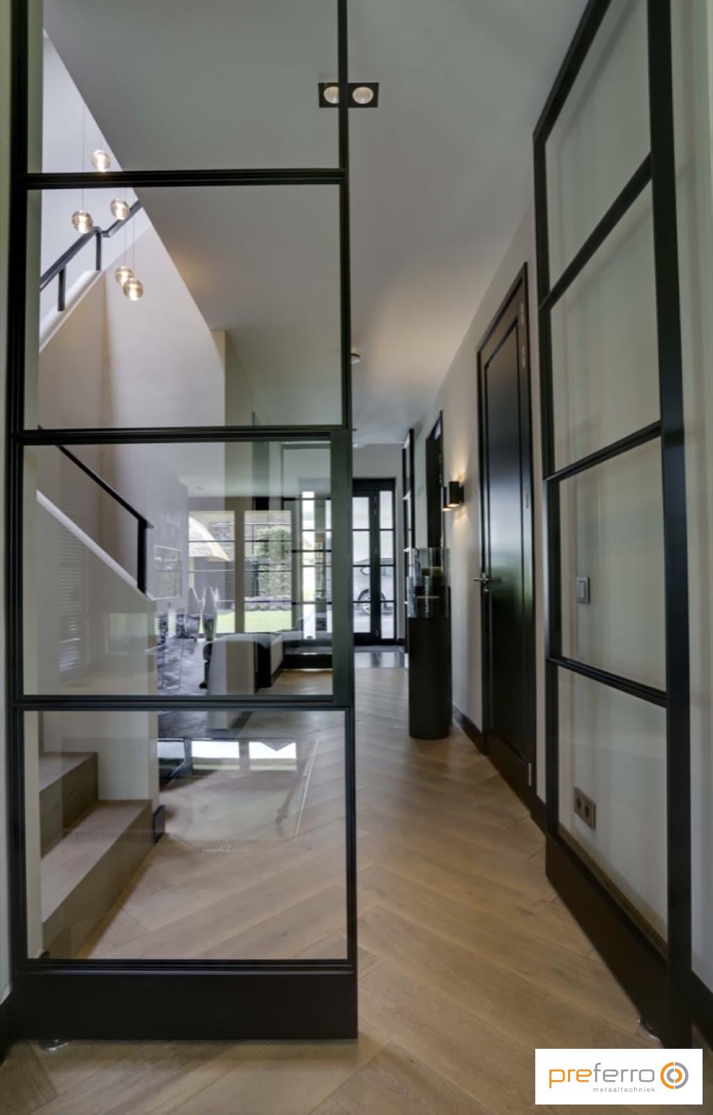 Dubbele binnendeuren met glas